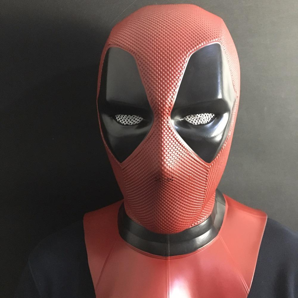 Deadpool Wade Red Full Face Mask Helmet PVC Cosplay Prop Fit Most