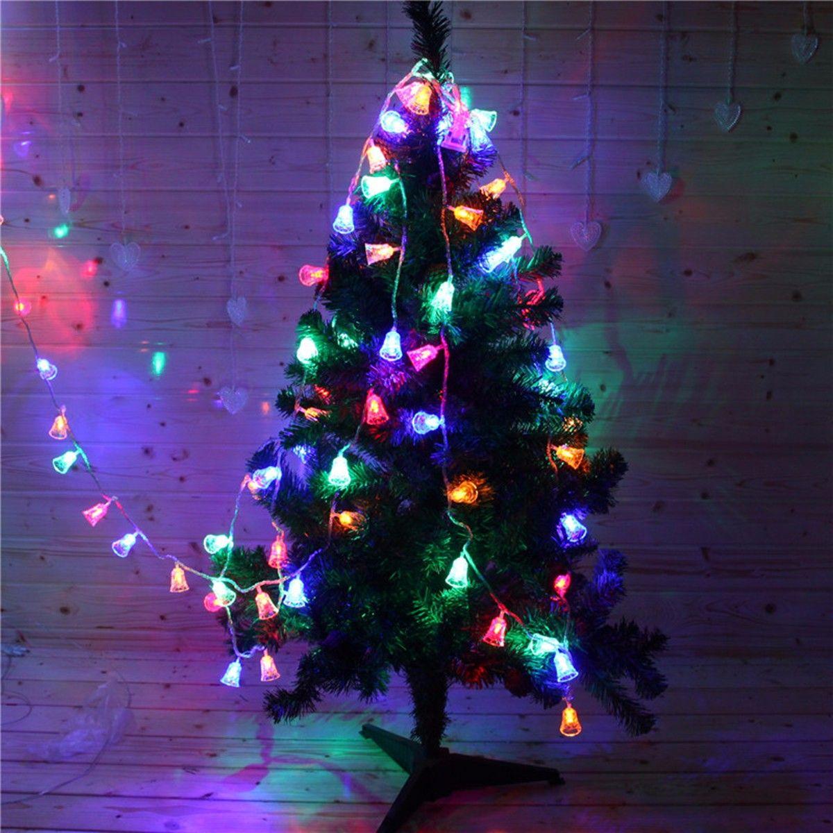 4m 20 LED 작은 벨 문자열 요정 조명 홈 야외 웨딩 갈 랜드 장식 Navidad에 대 한 크리스마스 트리 장식