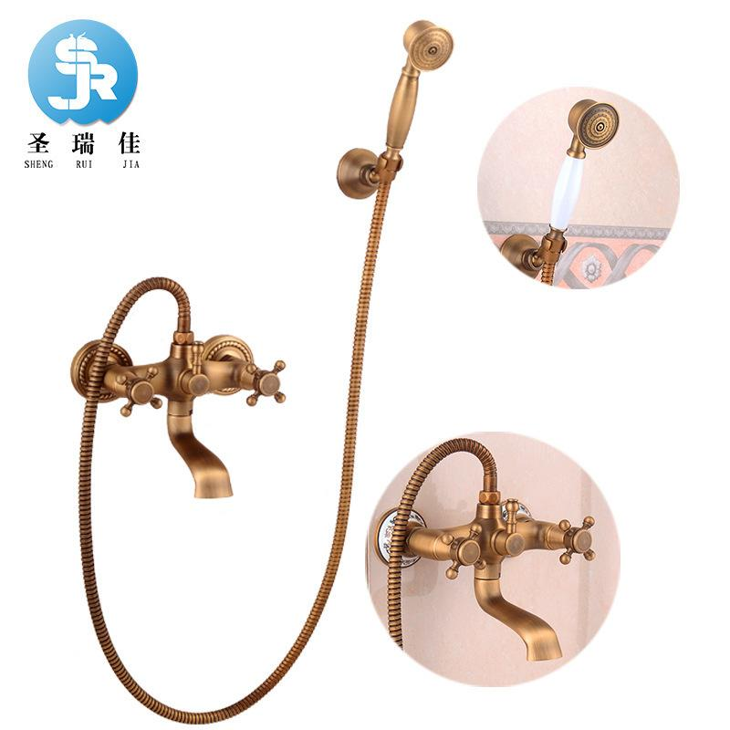 Ware To Fake Something Antique Shower Hold Shower Nozzle Restore Ancient Ways Get Wet In The Rain Hand Spraying Decoration Sprinkle Suit