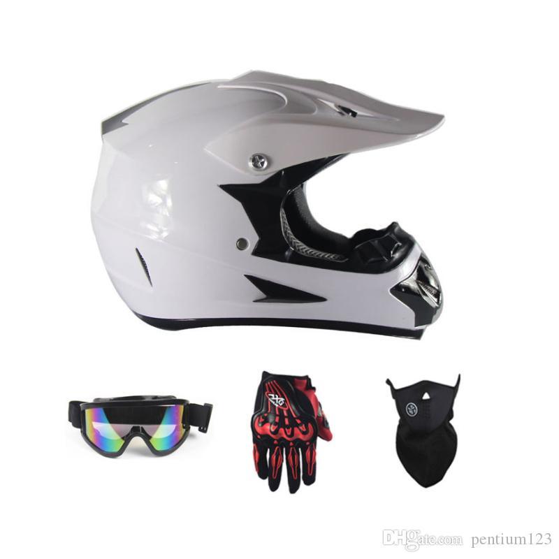 gözlük eldiven maske ile motosiklet kaskı aşağı için yeni Motosiklet bisiklet çapraz MTB DH yoldan motosiklet çapraz yarış kask noktası