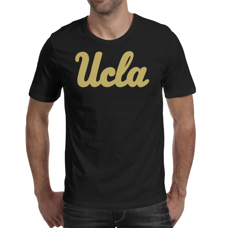 Мужская печать Калифорния Лос-Анджелес Брюинз Баскетбол с надписью Stroke Glod черная футболка Забавный хип-хоп Сделать рубашку Urban white Mesh
