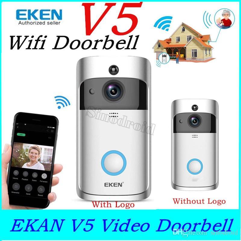 Großhandel EKEN Intelligente Türklingel V5 Wifi Türklingelkamera Visuelle  Intercom Nachtsicht IP Wireless Home FIR Alarm Überwachungskamera Smart  Home ...