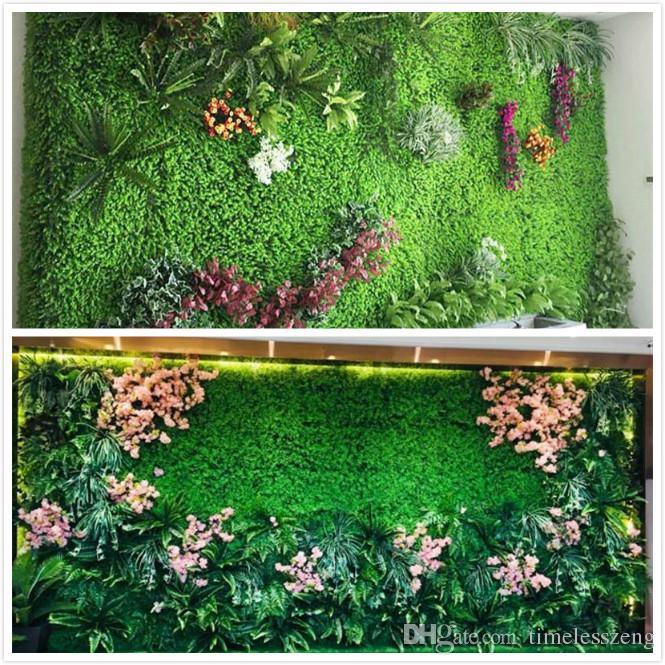 Eco-friendly Artificial Plant Wall Artificial Turf Artificial lawn Mat Pet Food Mat Plastic Fish Tank Fake Grass Lawn Micro Landscape