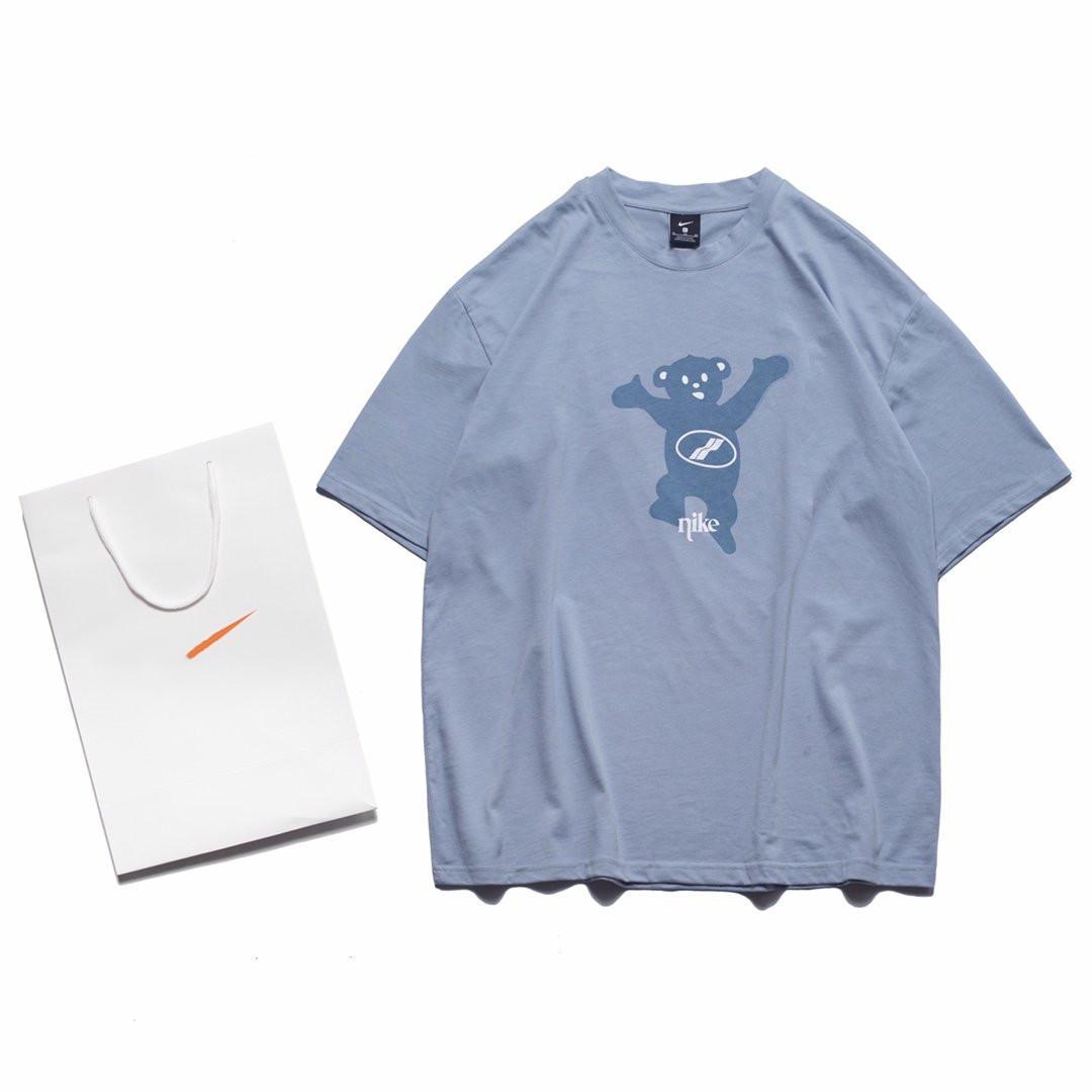 Para mujer para hombre Camiseta 2020 Nueva Moda Casual llegada de la alta calidad del verano de manga corta azul SL200601