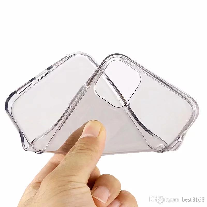 Lucida TPU per Iphone 12 11 Pro XR XS XS MAX 8 7 Samsung S20 Ultra S10 modo del silicone di cristallo variopinta della copertura trasparente del telefono di gomma