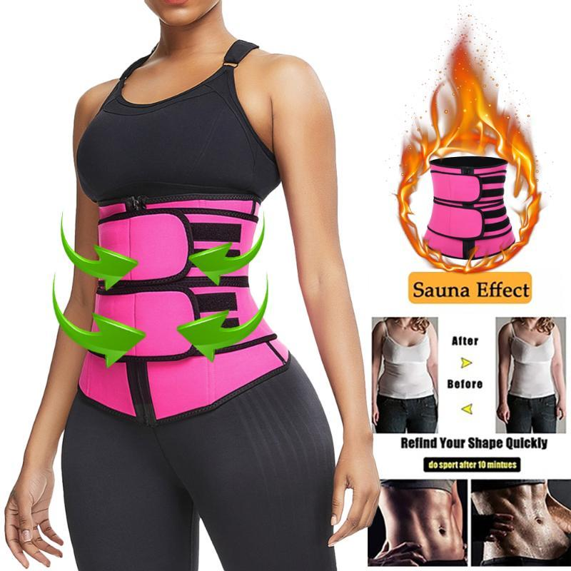 Da cintura para instrutor Mulheres Slimming Bainha Tummy Reduzir Shapers barriga shapewear suor do corpo Shaper Sauna espartilho Cintos Workout Trimmer
