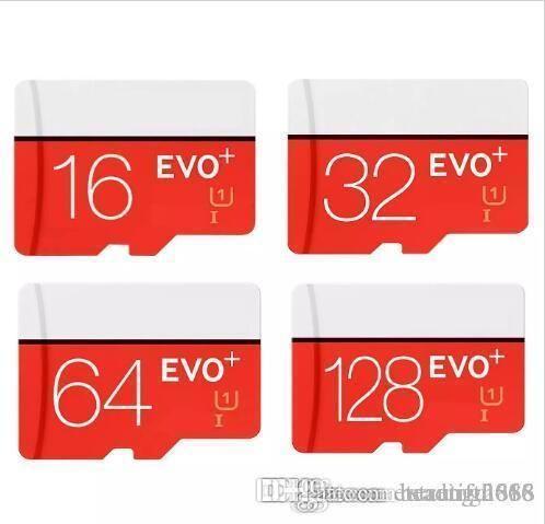 تصميم بطاقة ذاكرة فلاش EVO PLUS EVO + Micro SD TF بسعة 64 جيجا بايت بسعة 16 جيجا بايت ، بطاقة ذاكرة U1 U3 عالية السرعة فئة 10 ميجابايت في الثانية بسرعة 10 ميجابايت في الثانية