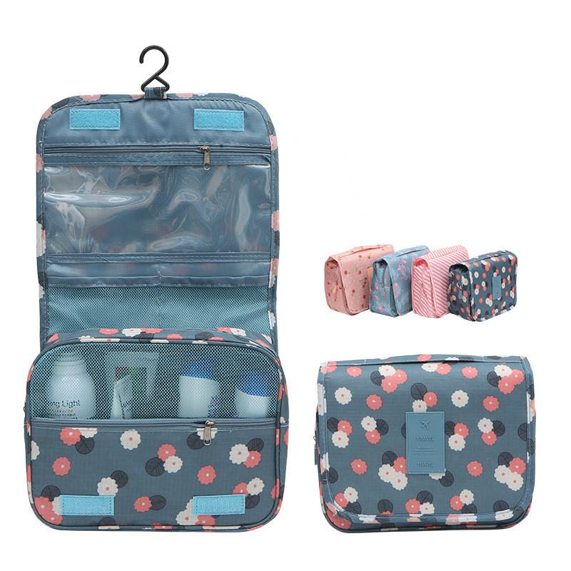 hanging multifunction waterproof cosmetic bag flower dot print make up bag travel fashion women handbags storage bags Totels will and sandy