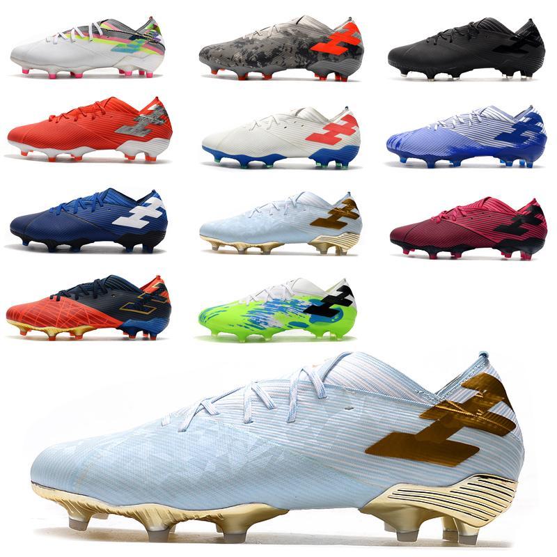 جديد 2020 أحذية الرجال الكلاسيكية Nemeziz 19.1 FG ميسي كرة القدم كأس العالم المرابط خصم كبير لكرة القدم كأس مونديال نيمار كرة القدم أحذية