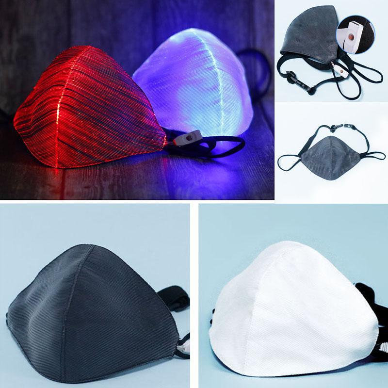 LED concepteur Rave Mask masques unisexe 7 Couleur Lumière vive Masque USB Designe réutilisable rechargeable Bar Christmas Party Halloween DHA163