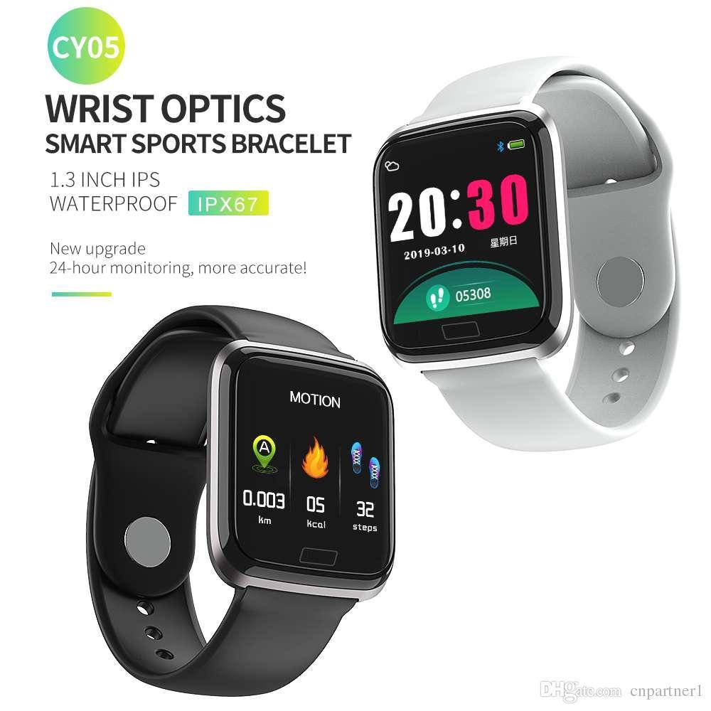 CY05 Smart Watch Bracelet With Heart rate Monitor Blood Pressure IP67 Fitness Tracker Wrisatband Smart Watch Women Men PK q3 q8