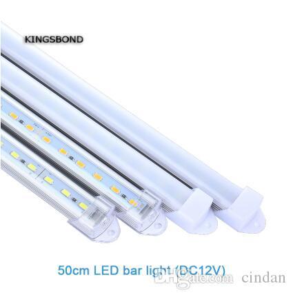5pcs * 50 centímetros Atacado Fábrica de 30cm a 120cm DC 12V LED SMD5730 disco rígida Faixa de LED Bar Luz luz de tira com tampa PC DIY levou