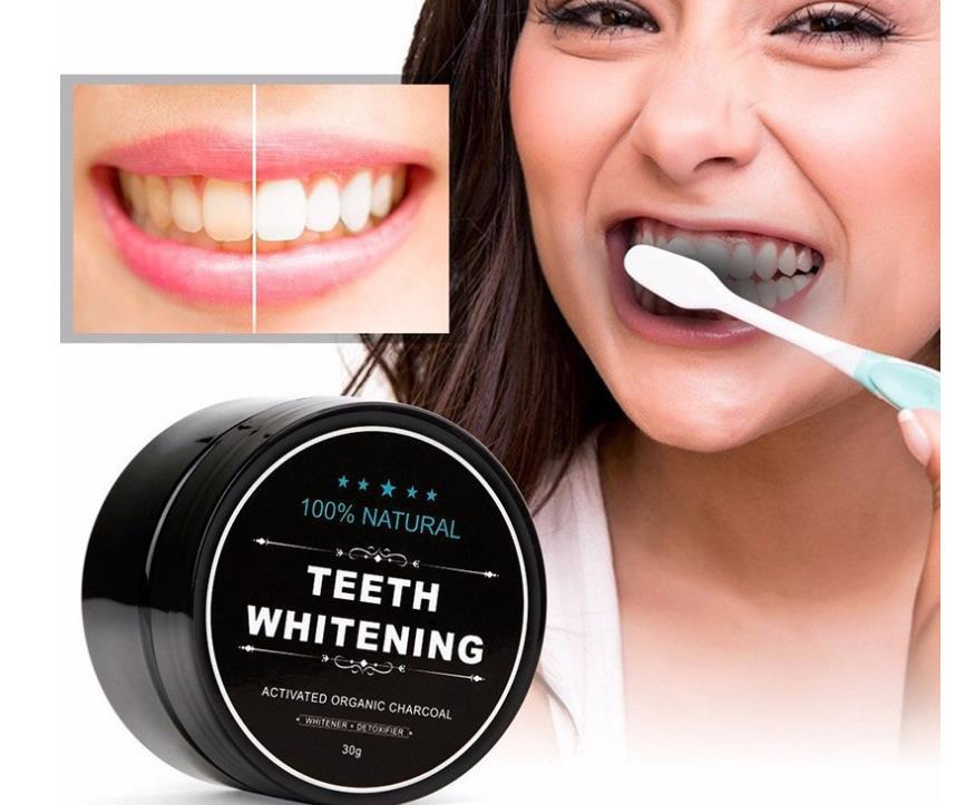Teeth Whitening 30g Powder Smoke Coffee Tea Stain Remove Bamboo