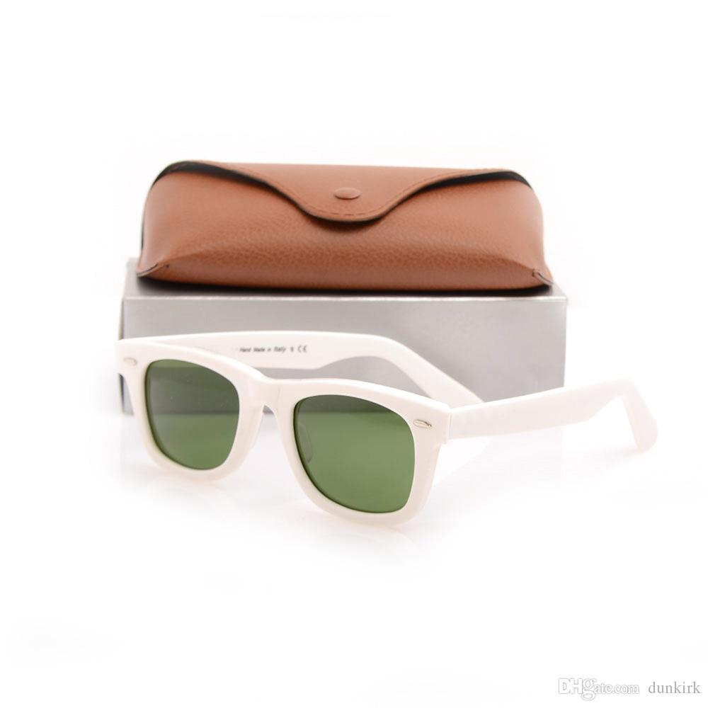 Hot Sales Brand Designer Lente de cristal Lente verde Lente Gafas de sol Tablón Gafas de sol blancas de alta calidad Gafas de sol nuevas gafas de sol con marrón CAS