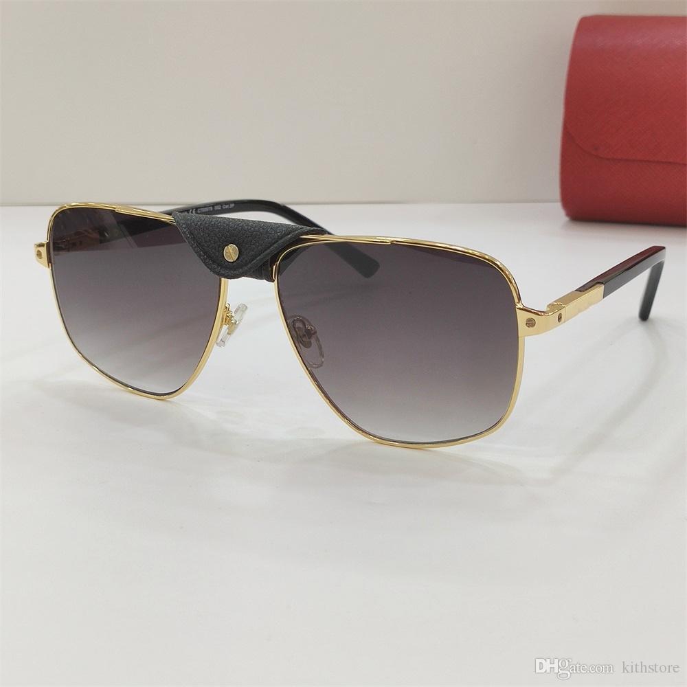 Mens Luxury Designer Marca óculos de sol Zonnebril Mulheres Moda Luxo Designer 2020 New Vintage ouro do leopardo Sunglasses Praça Óculos Aooko