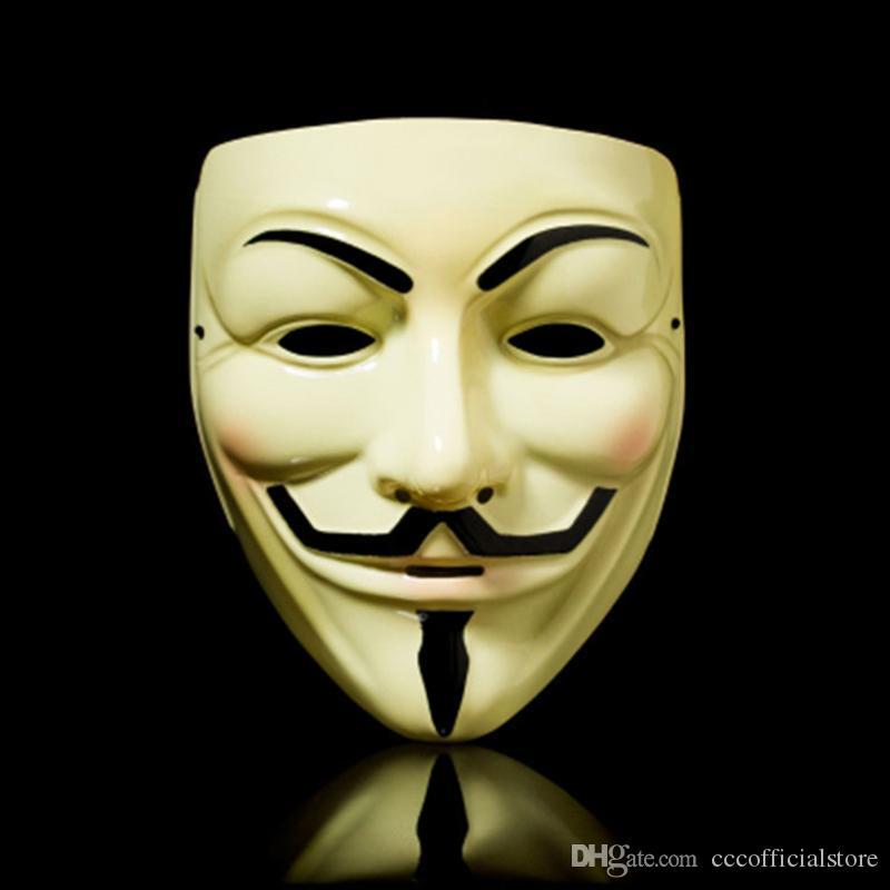 50шт 2020 новый V маски маскарадные Маски для Vendetta Anonymous Валентина Болл Party украшения Полный Face Хэллоуин