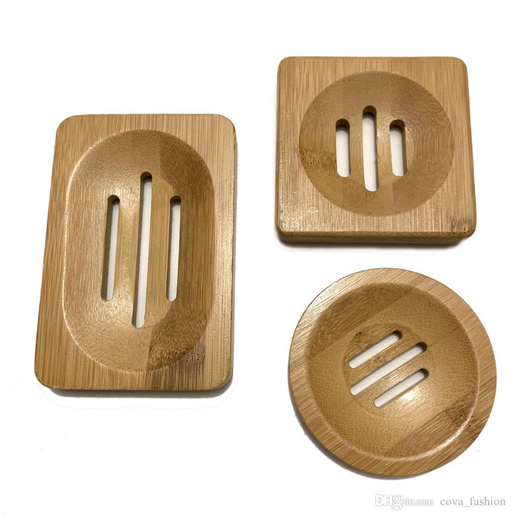 Doğal Bambu sabunluk Basit Bambu Sabunluk Raf Plaka Tepsi Banyo Sabunluk Vaka 3 Stiller