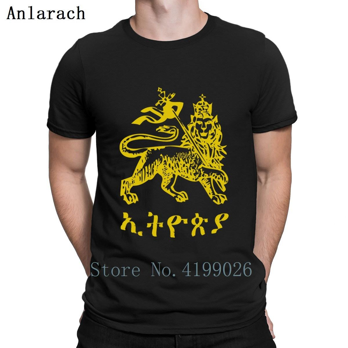 Etiopia Leone di Giuda T Shirt Designer impressionanti S-3XL Abbigliamento Fitness Mens magliette Miglior Slim Cheap estivo stile funky