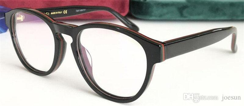 Yeni gözlük reçete gözlük çerçeve yuvarlak çerçeve tasarımcısı moda stil orijinal kılıf ile 0273 en kaliteli şeffaf lens