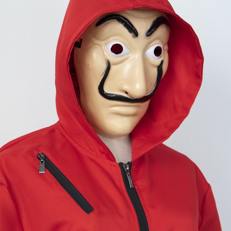 Сальвадор Дали Фильм костюм Деньги Heist Дом бумаги La Casa De Papel Cosplay Halloween Party костюмы Face Mask