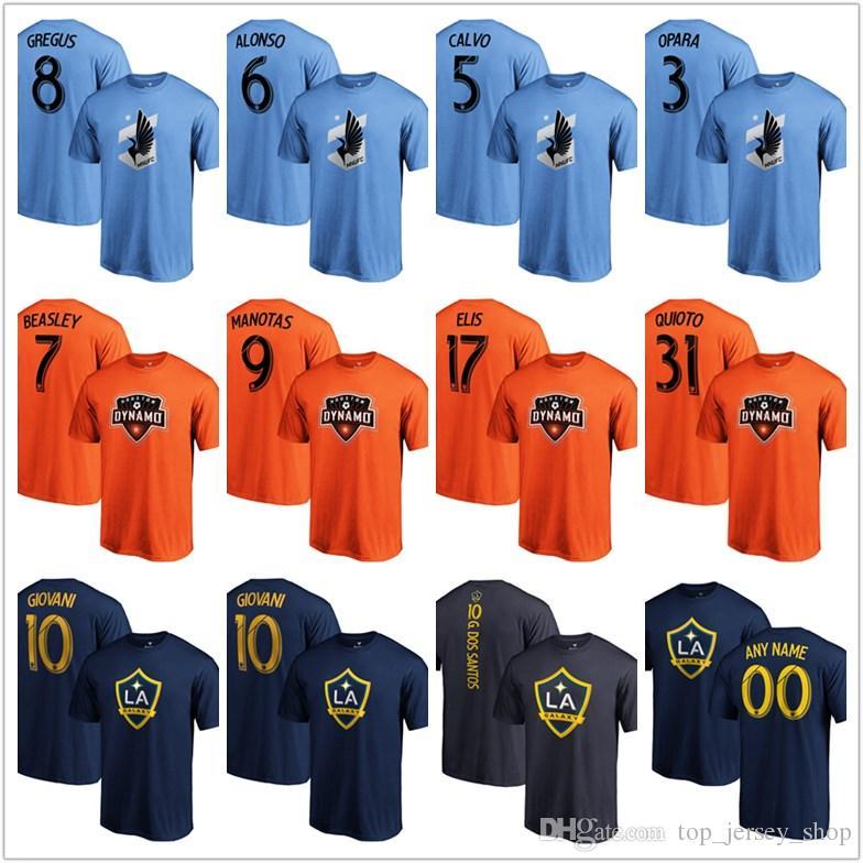 Erkekler 2019 MLS Tees Mnufc Dinamo La Galaxy futbol futbol taraftarları tişört mavi turuncu