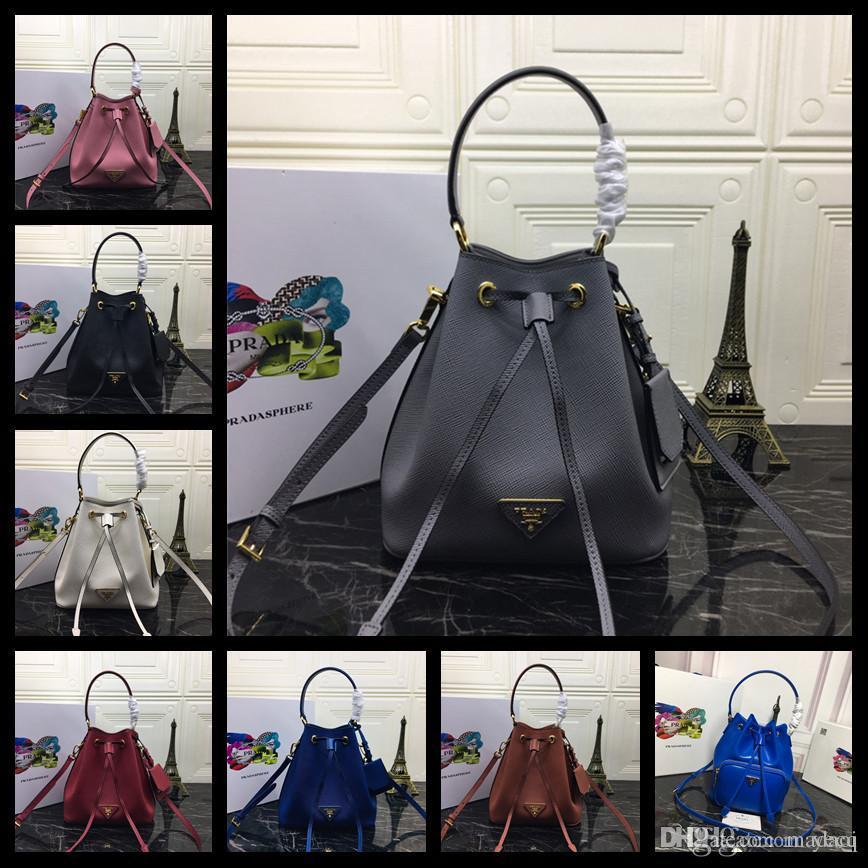 18FW sencillas mujeres bolsa superior de la bolsa bolsos de las señoras de cuero de lujo bolsas de hombro Las mujeres de mano bolsos del mensajero de Crossbody Bolsas Femenina #E MADAI