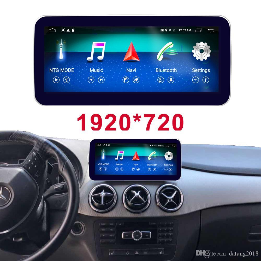 Android 8 Octa 8 Çekirdekli İşlemci Mercedes Benz B Sınıfı 2016-2018 için 4 + 64G Araç Radyo, Bluetooth GPS Navigasyon Kafa Birimi Ekranı