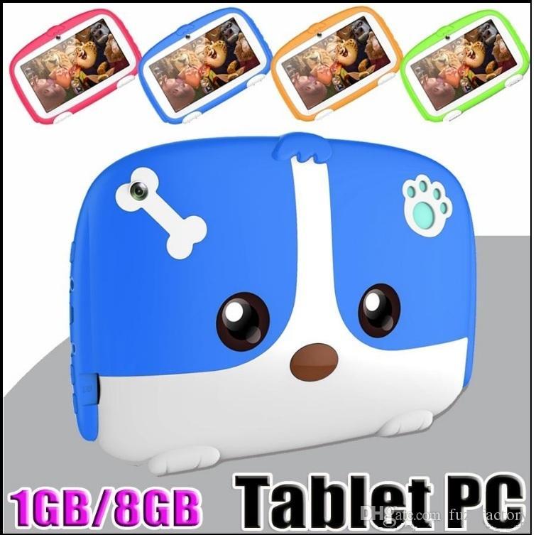 """DHL Niños Tablet PC de 7"""" 7 pulgadas Quad Core niños tablet Android 6.0 de Allwinner A33 Google reproductor de 512 MB de RAM de 8 GB ROM precio de fábrica"""