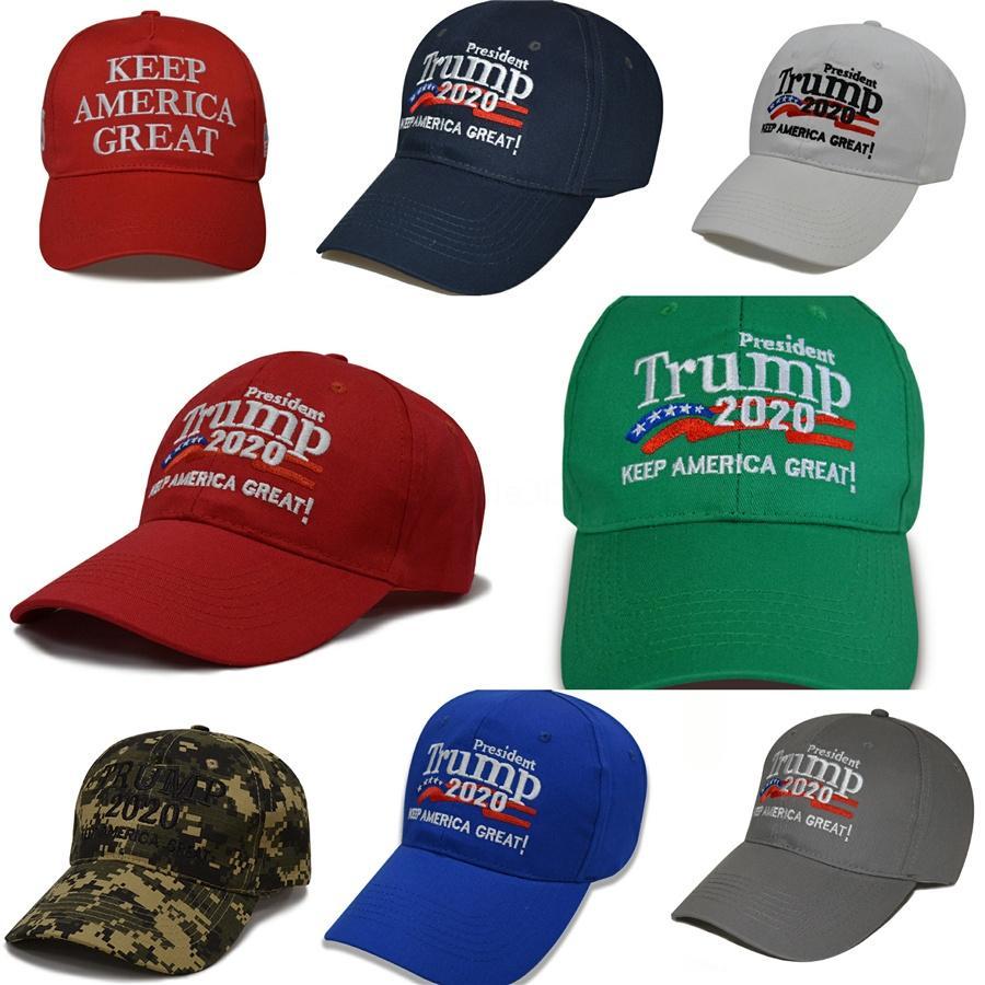 Halten Sie New Trump 2020 Ball-Hut Amerika Große Cap Brief Stickerei Donald Trump Lip Flag Baseball Präsident Kappen Einstellbare Snapback Caps # 791