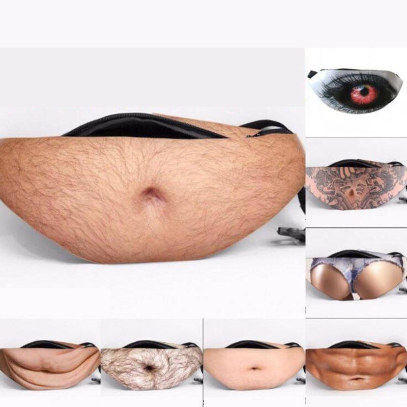 Nova personalidade saco de imitação da barriga PU saco de cintura ocasional