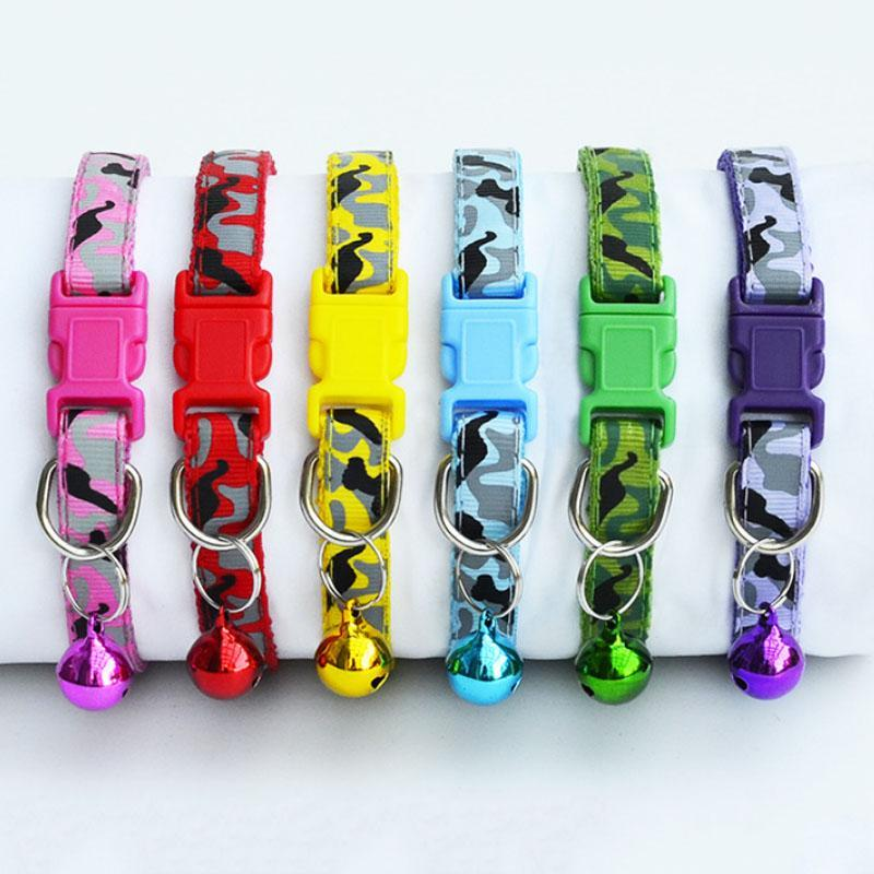 Delicate Safety Casual Nylon Dog Collar Neck Strap Fashion Adjustable Bell Pet Dog Collar Hot Sale
