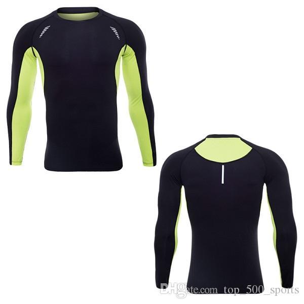 싱 셔츠 드라이 피트 니즈 체육관 의류 스쿠프 넥 긴 소매 QIY DRI 속옷 바디 빌딩 Suiit Polyester Apparel