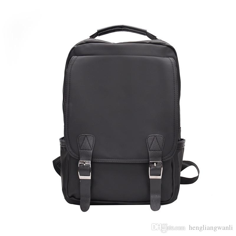 Новая мода мужская сумка рюкзак дикий тенденция студент колледжа путешествия рюкзак простой многофункциональный мешок компьютера горячий