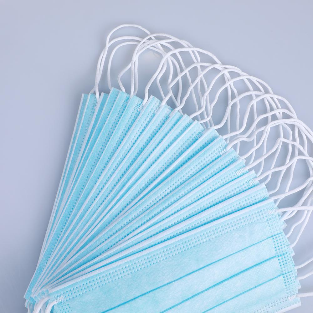 2020 Máscaras desechables cara con elástico del oído Loop 3 capas transpirable y cómodo para el bloqueo de polvo Protection Pack contaminación atmosférica