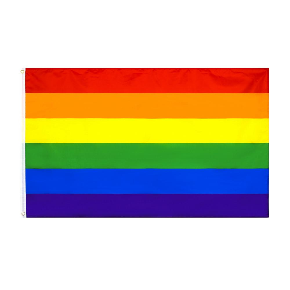 8 Entwürfe direkt ab Werk Großhandel 3x5fts 90x150cm Philadelphia phily Gerade Ally LGBT Regenbogen-Homosexuell-Stolz-Flagge Fortschritte