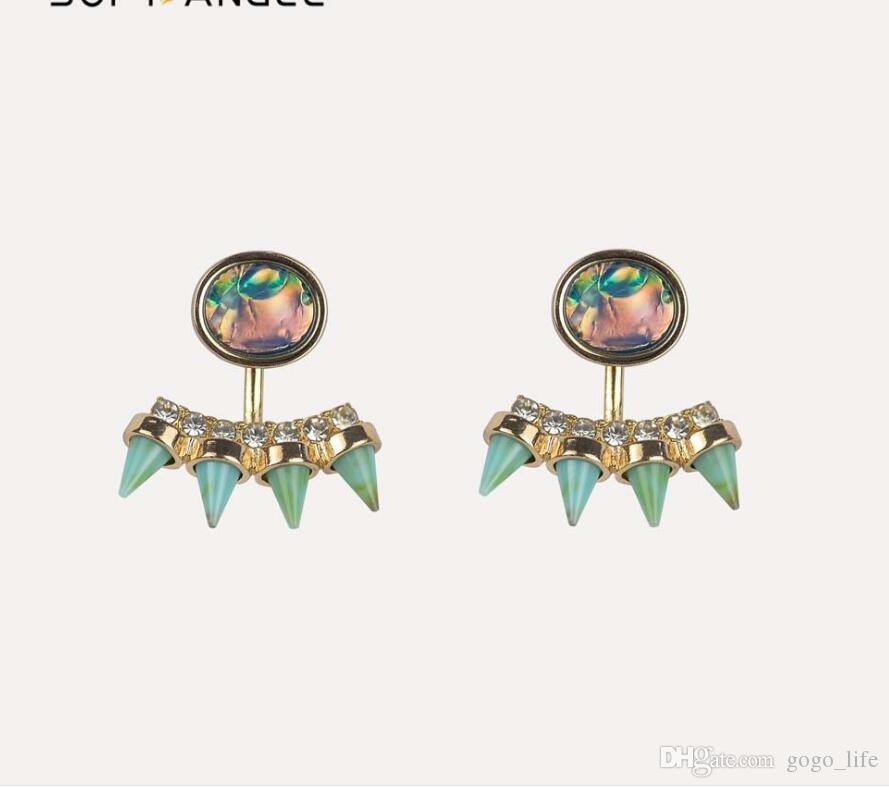 Neue Mode Ohrringe Strass Süße Metall Mit Edelsteine Ohrstecker Ohrringe Für Frauen Kristall Ohrring Großhandel Brincos