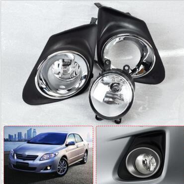 4Pcs Chrome Frontstoßstange Nebel-Licht-Lampe + Grille Abdeckung für 11-13 Corolla
