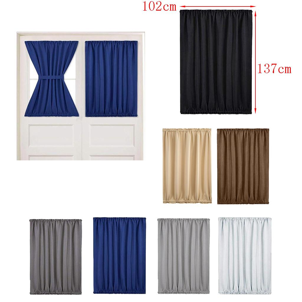 2021 2x Light Reducing Thermal Insulated French Glass Door Curtain Panel Gray From Magideal 38 04 Dhgate Com