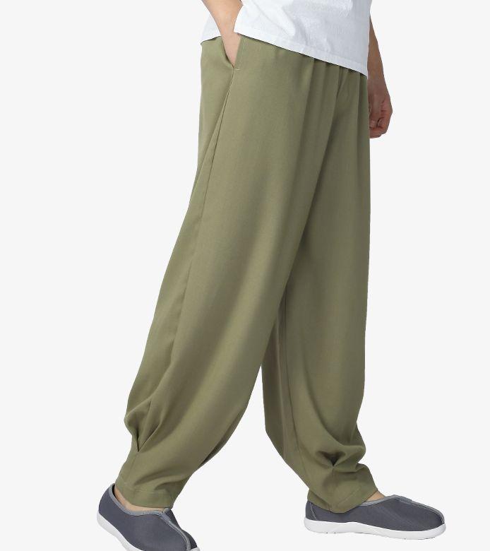Estate 6color pantaloni di meditazione zen laici suora pantaloni abate dei monaci shaolin monaco pantaloni grigio / azzurro / caffè / verde