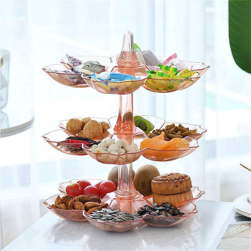 Rotatable Cake Dessert Rack Plates Multi-layer Food Fruit Tray Plate Multi Layer Snack Tray Wedding Party Snack Candy Box Basket