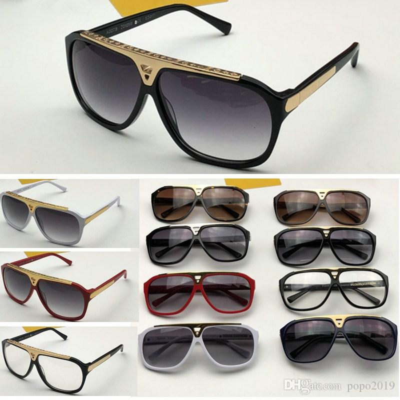 مصمم الأزياء دليل النظارات الشمسية الرجعية خمر الرجال مصمم Z0350W لامعة إطار الذهب شعار ليزر النساء أعلى جودة مع الحزمة الأصلية