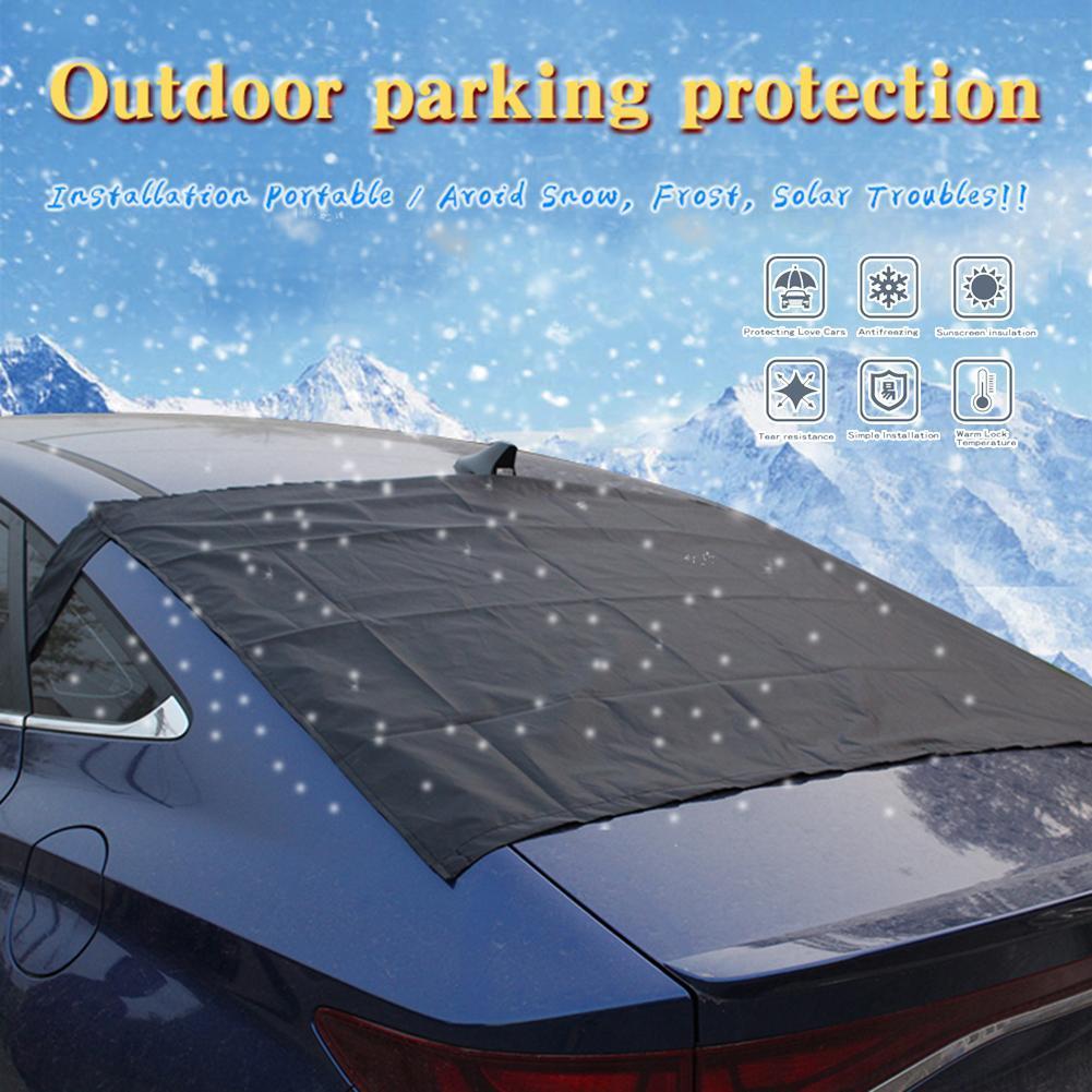 140 * 90см сзади автомобиля лобового стекла снежного покрова ВС доказательство 210T высокой плотности водонепроницаемый ткани магниты лобового стекла чехол для Лето Зима