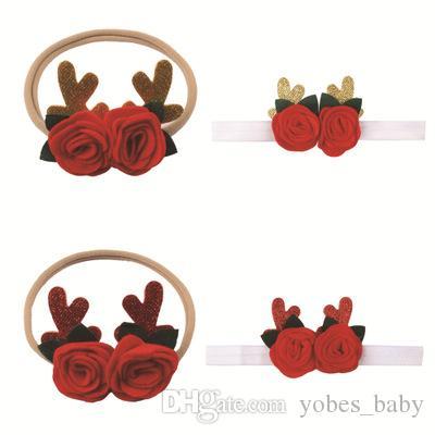 2019 Baby girls headband fashion Christmas Hair Ribbons children hair accessories new creative gift children elastic seamless hair band