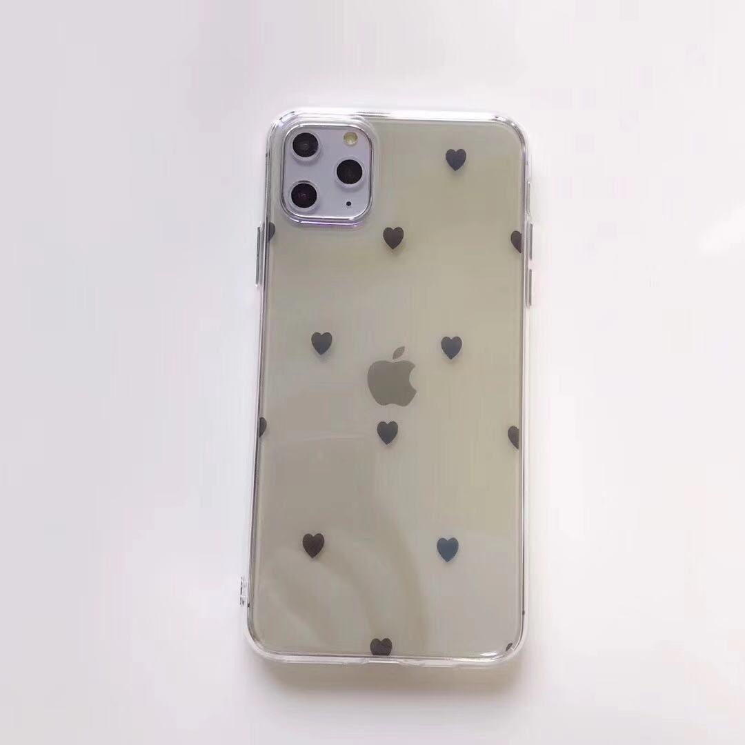 Корея Blu Ray Love Heart Phone чехол для Iphone 11 Pro Max X Xs Max 6S 7 8plus Clear Soft TPU Silicone Capa задняя крышка