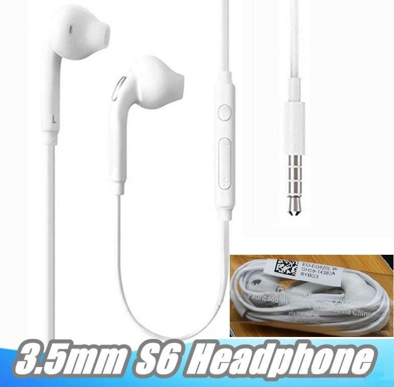 رخيصة 3.5mm في الأذن السلكية سماعات أذن سماعة مع مايكروفون وسماعات التحكم بحجم الصوت عن بعد للحصول على سامسونج غالاكسي S6 S8 S9 بدون باقة