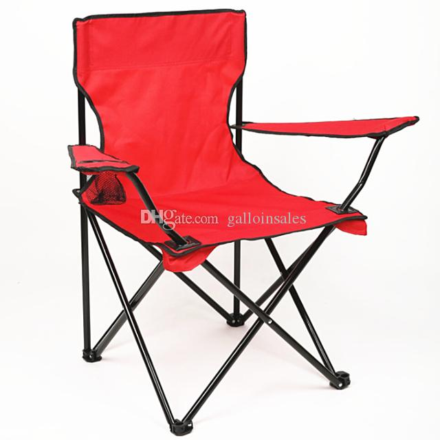 Wholesale- Portable Camping Hiking Folding Foldable Stool Chair Seat For Fishing Festival Picnic BBQ Beach random color FCC001