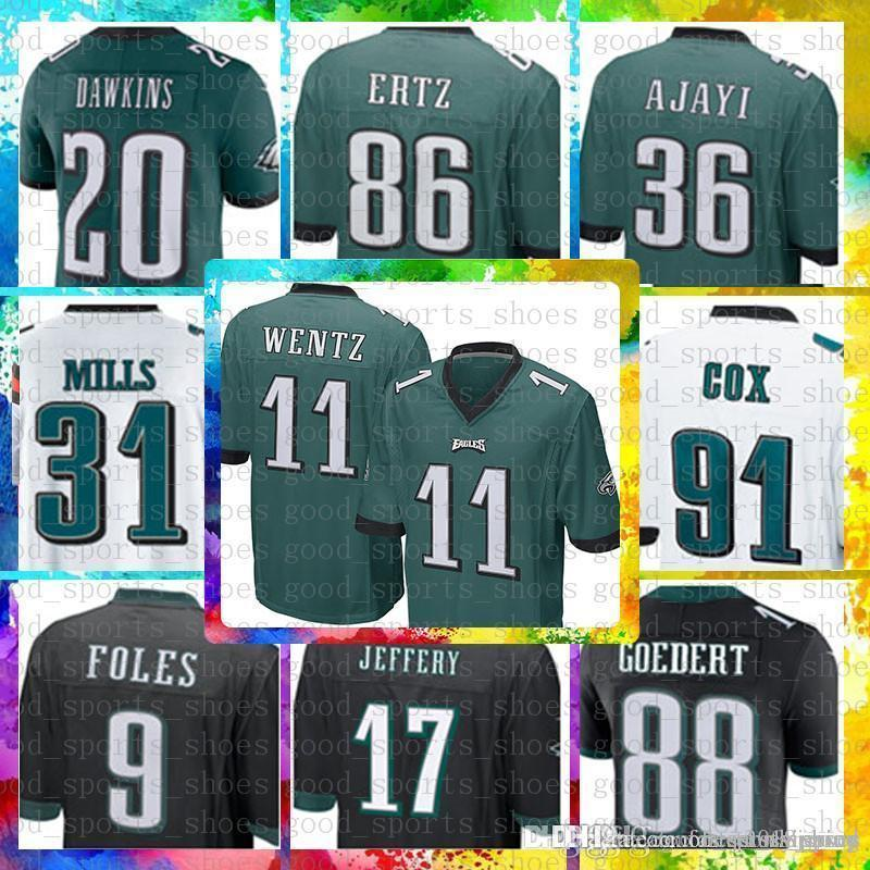 20 Brian Dawkins Philadelphia Eagles Jersey 11 Carson Wentz 9 Nick Foles 86  Zach Ertz 62 Jason Kelce 27 Malcolm Jenkins 17 Alshon Jeffery 33ac191bf