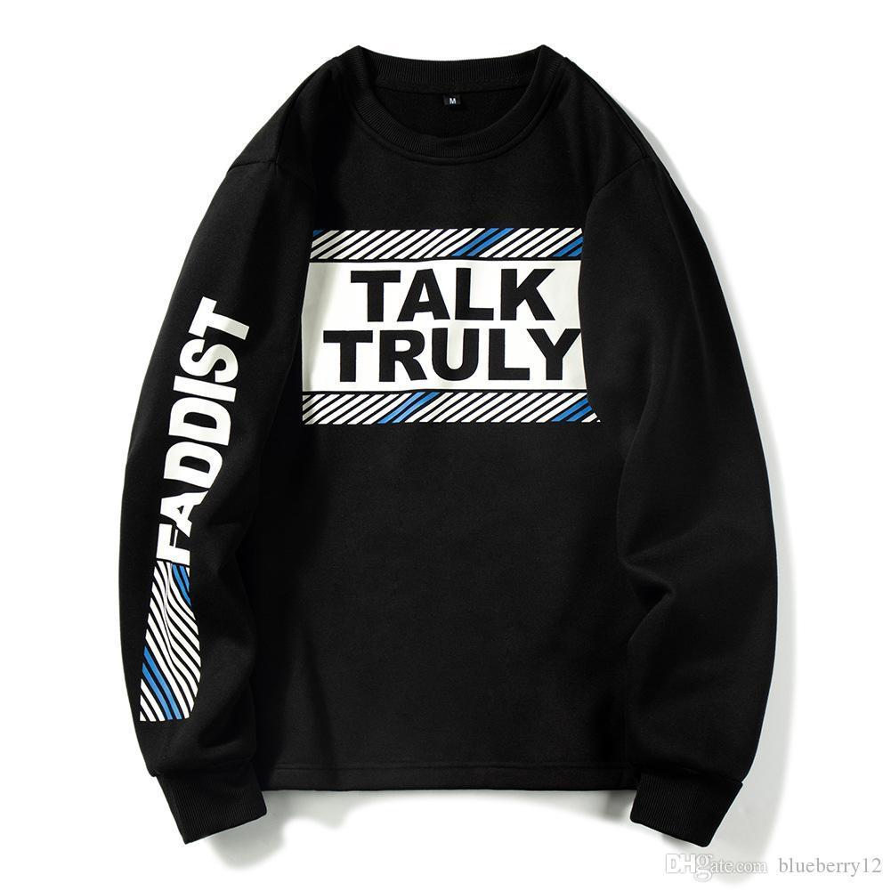 Hommes Sweatshirts New Hip Hop Casual Street lâche chandail Lettre d'impression pour hommes et femmes Sweat EUR Taille