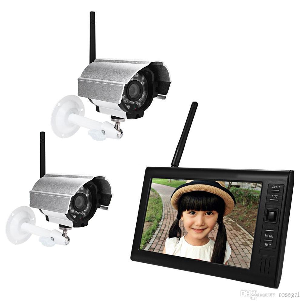 SY602D12 7 بوصة وشاشة TFT LCD مراقبة 2.4G لاسلكية للماء ليلة الرؤية كاميرا IP