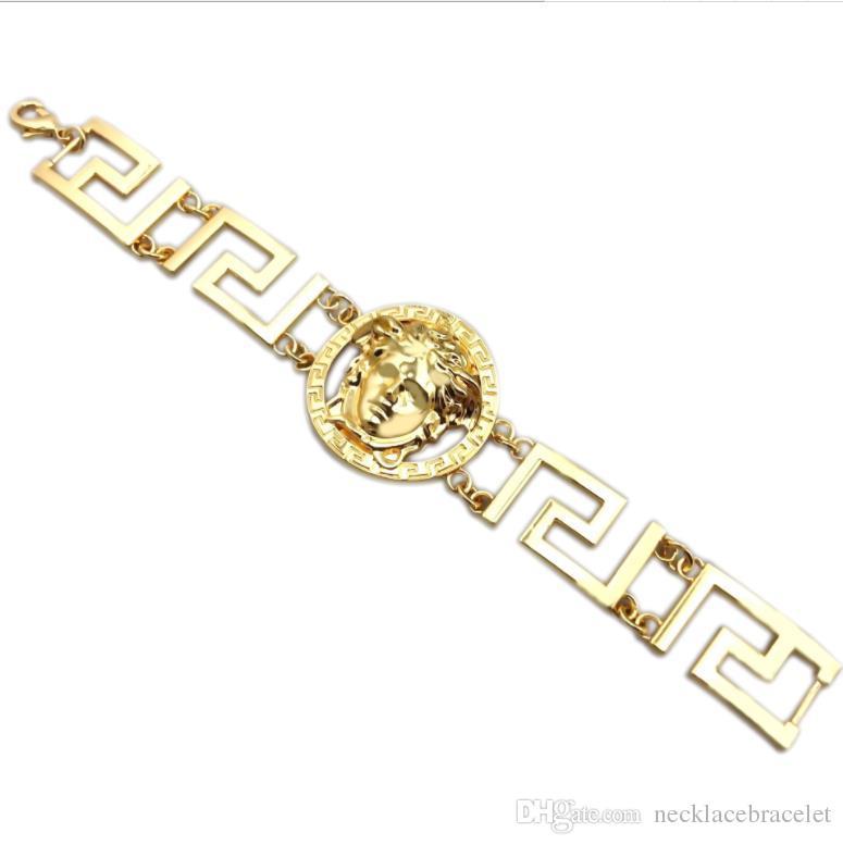 Европа и америка горячая распродажа марка высочайшее качество золотой браслет для мужчин женщин 2019 горячая хип-хоп ювелирные изделия позолоченные роскошные аксессуары